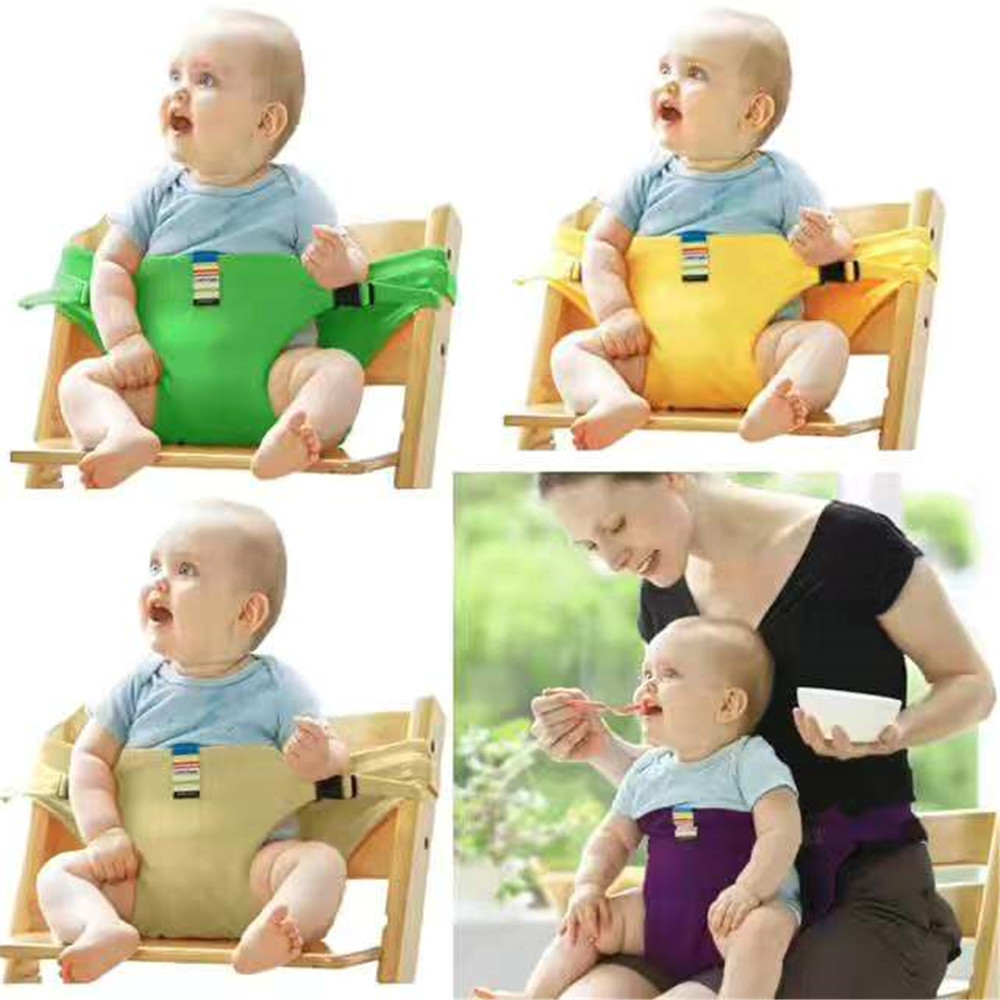 Baby Dining Chair Safety Belt Portable Seat Lunch Chair Seat Stretch WrapHarness Safety Seat  Dinning Chairs