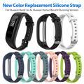 Силиконовый спортивный ремешок для часов Huawei Band 3e 4e, Huawei Honor Band 4, версия для бега, Смарт-часы, браслет, наручные часы