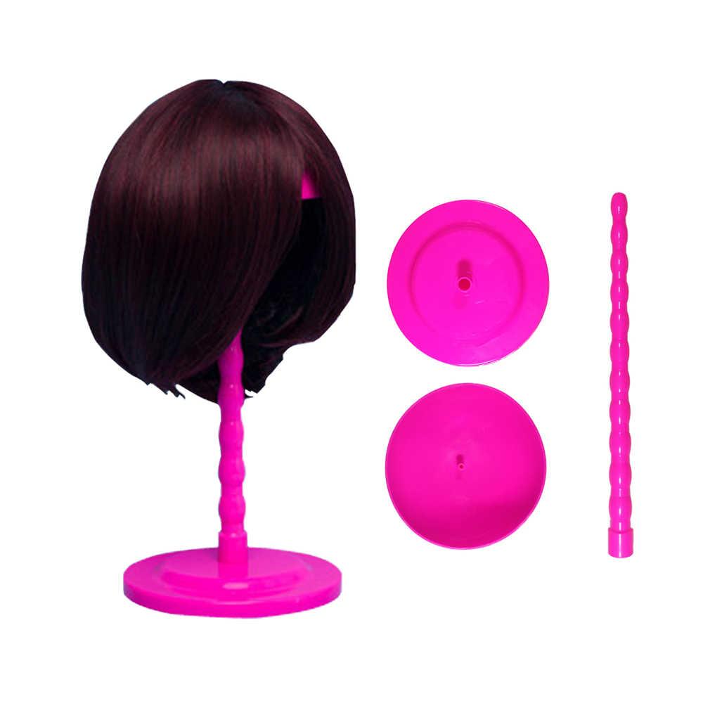 Горячая продажа пластиковые складные волосы голова Шапка Кепка Дисплей Подставка для парика стойка для накладных ногтей стабильный долговечный Стенды для париков