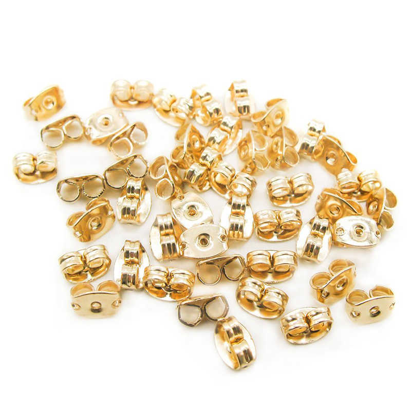 10PCS Orecchino Indietro Noci Orecchio Accessori Dei Monili Dell'orecchino del Metallo Fermacorda e ganci Raccordi Vendita Calda