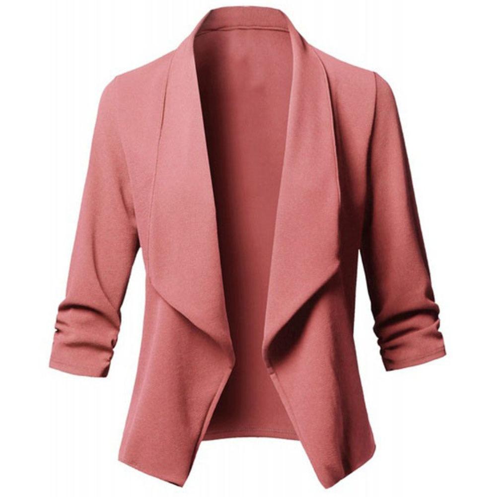 Women Long Sleeve Formal Blazer Jackets Cardigan Office Lady Work Fit Slim Suit Business Autumn Outerwear Blazer