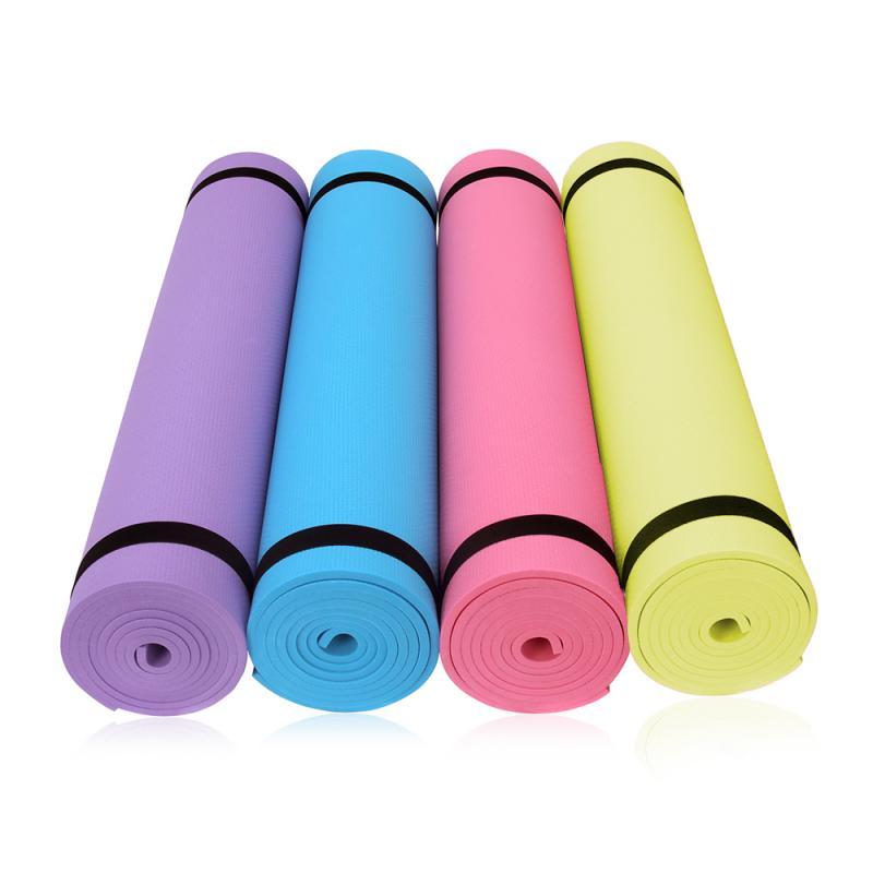 Yoga Mat Non Slip Carpet Pilates Gym Sports Exercise Pads Fitness Environmental Gymnastics Mats With Position Line Non Slip Carp