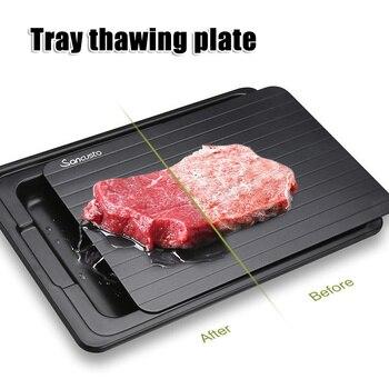 Быстрая разморозка лоток с мясом разморозка еда тарелка для разморозки доска кухонный Магазин инструментов