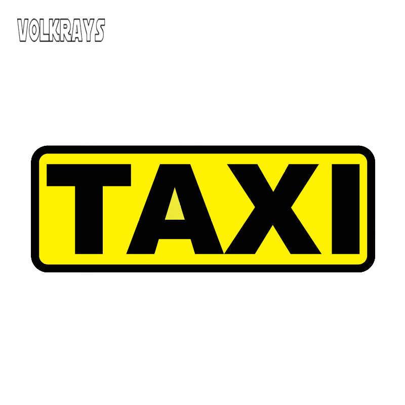 Volkrays yüksek kaliteli motosiklet etiket çıkartmaları su geçirmez güneş koruyucu araba çıkartmaları taksi çıkartmaları otomobil aksesuarları, 12cm * 4cm