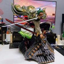 Action 50CM One Piece anime figure toy One piece Zoro 3D PVC kimono figure Model Zoro garage kit Decoration Collection for Fans