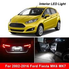 Bombilla LED blanca para Interior de coche, Kit de luz de techo para Ford Fiesta MK6 MK7, accesorios, sin errores, perfecto para 2002 2014 2015 2016