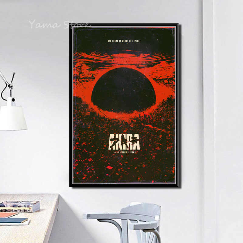 J313 Akira Klassieke Anime Movie Gift Wall Art Decor Schilderen Poster Prints Canvas
