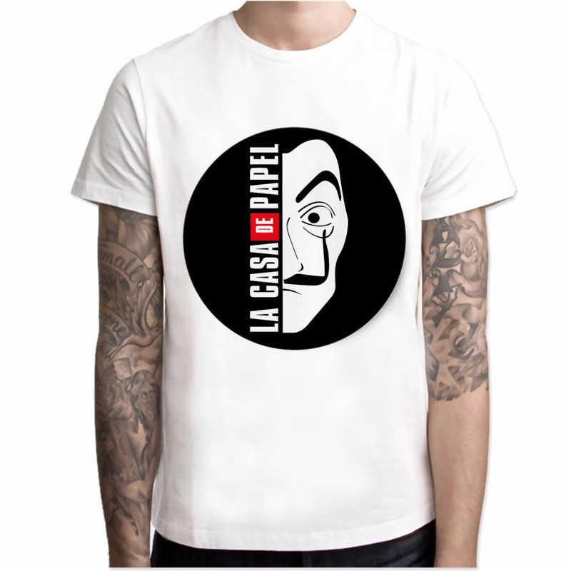 Tシャツ男性半袖の家紙 tシャツ男性おかしいデザインラカサデ papel tシャツマネー強盗 tシャツテレビシリーズ tシャツ