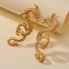 Boucles d'oreilles Dragon en alliage pour femmes, bijoux populaires