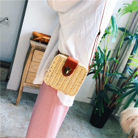 Straw box beach bag Candy colored women's bag slung portable summer