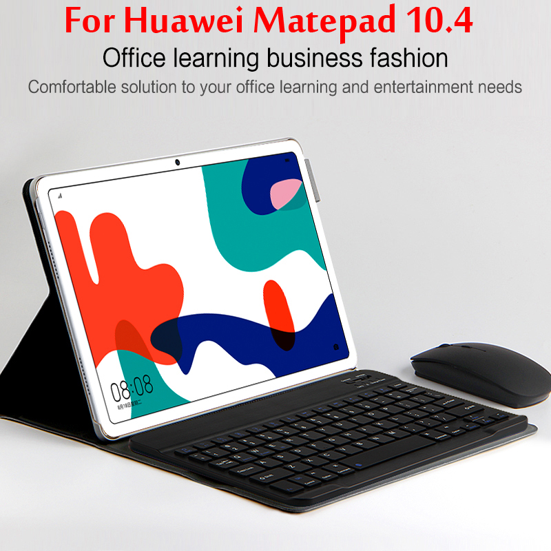 Wireless Bluetooth Keyboard Case For HUAWEI MatePad 10.4'' 2020 BAH3-W09/BAH3-AL00 Magnetic Stand Tablet Cover Funda