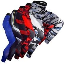 Мужские брюки эластичные быстросохнущие обтягивающие Компрессионные спортивные брюки для фитнеса тренировочные брюки спортивная одежда для бега баскетбола велоспорта