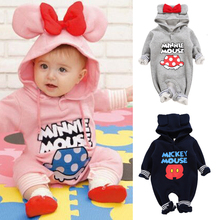 Mickey Baby Rompers Baby Winter Clothes