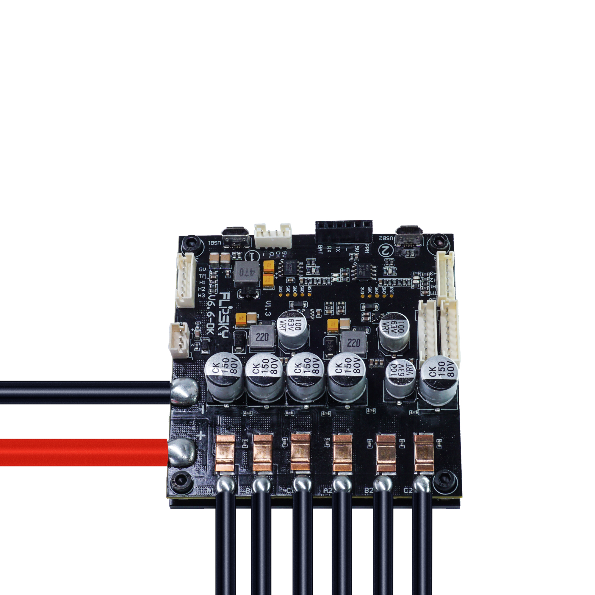 Dual FSESC6.6 Plus Based On VESC6 Electric Long Board Speed Controller 100A 12s Skateboard ESC FLIPSKY