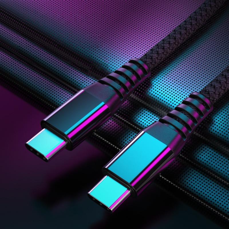 USB C a USB a Cable de tipo C para Xiaomi Redmi Nota 8 Pro carga rápida 4,0 PD 60W de carga rápida para MacBook Pro Cable de cargador Foto personalizada lámpara de Luna regalos personalizados para esposa niños luz de noche USB carga Tap Control 2/3 colores Luz de luna
