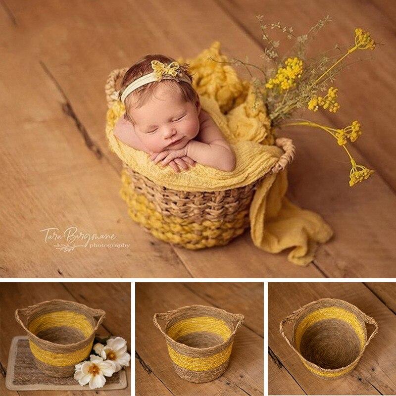 Newborn Photography Props Woven Basket Studio Baby Photo Shooting Photography Stand Photography Props Basket Basket Container