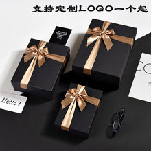 Rectangular Black candy paper packaging gift box Birthday Scarf Shirt Valentine s Day коробка упаковка подарочная коробка пакет(China)