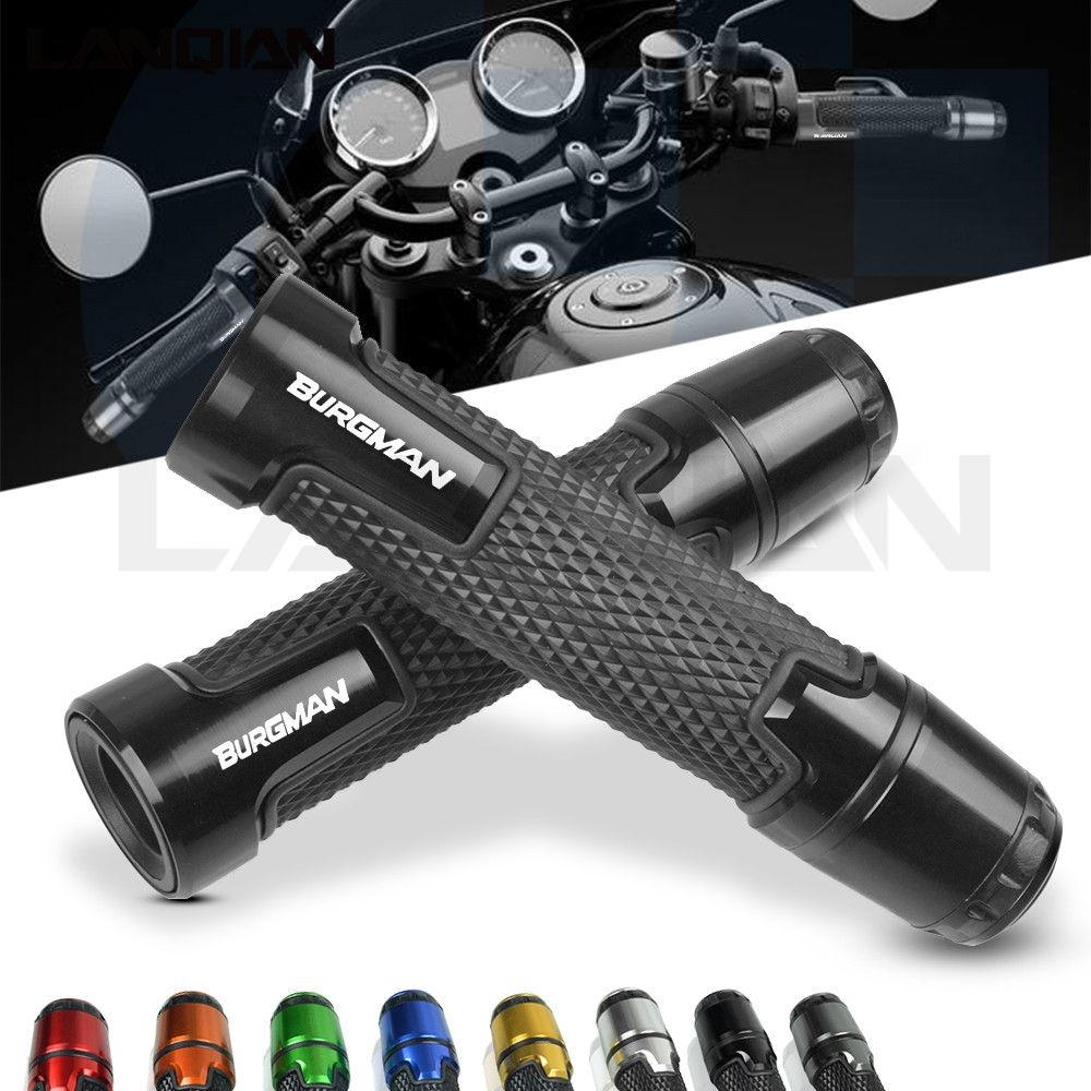 For Suzuki BURGMAN <font><b>7</b></font>/8 Motorcycle Handlebar Grips Handle Bar Grip Burgman 650 400 125 <font><b>200</b></font> AN650 AN400 AN125 AN200 Accessories image