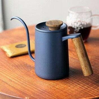 350ML/600ML Hand Drip Over Kettle Coffee Tea Water Pot Teflon Non-stick Stainless Steel Gooseneck Spout Long Mouth 1