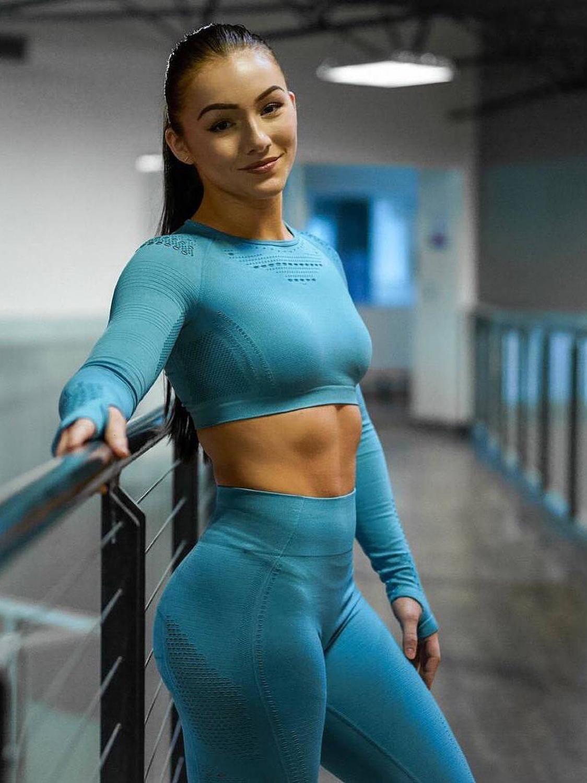 Сетчатая Спортивная одежда для женщин, костюм для фитнеса, 2019, одежда для спортзала, сухая посадка, комплект для йоги, одежда для тренировок ...