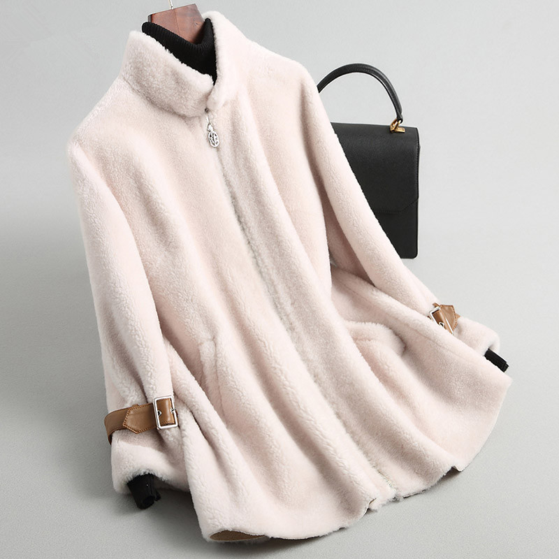 Wool 100% Coat Female Sheep Shearling Fur Coats Winter Jacket Women Clothes 2020 Korean Jackets Chaqueta Mujer MY4095 S S