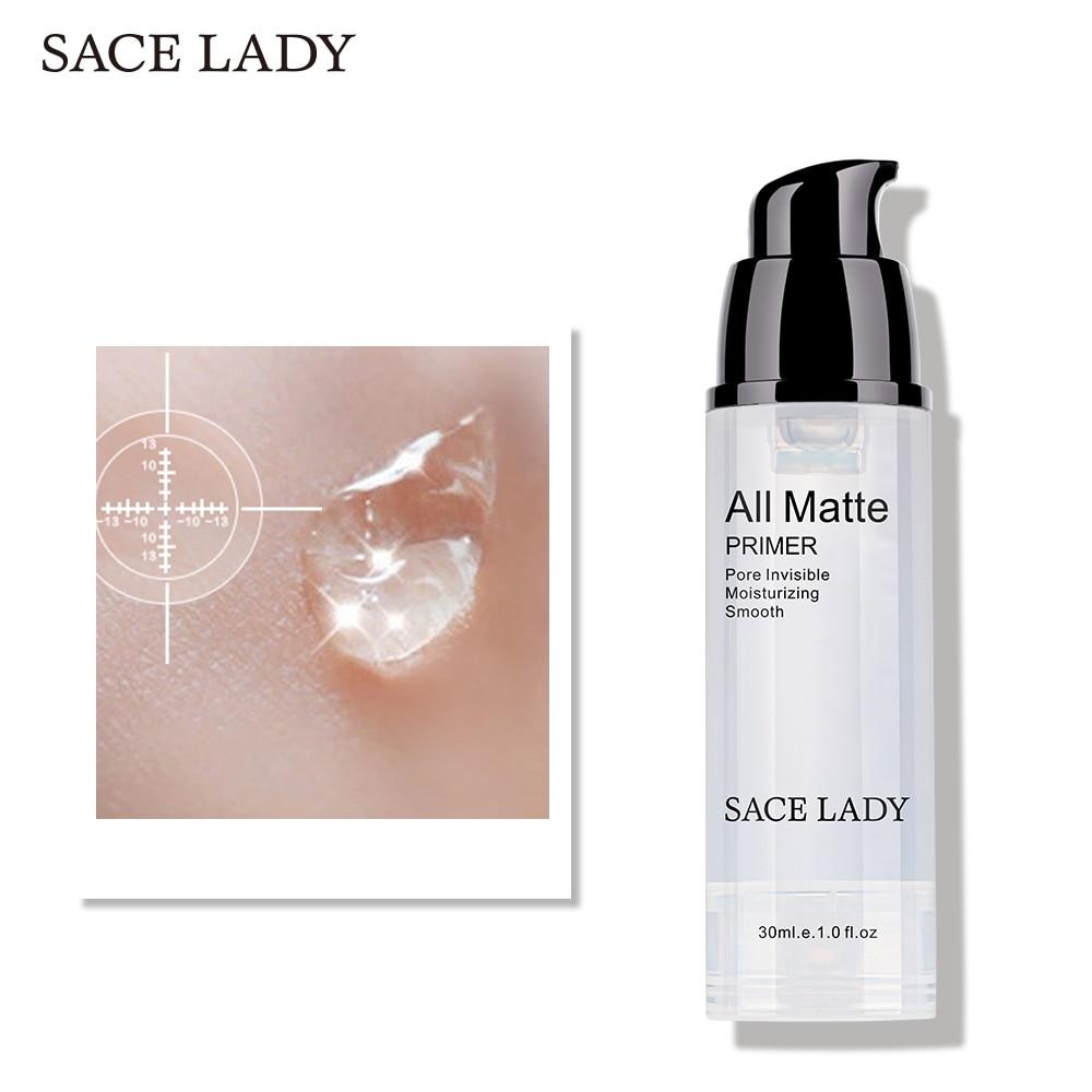 SACE LADY face Primer baza do makijażu kontrola oleju naturalny podkład makijaż matowy porów nawilżający marka profesjonalny kosmetyk 1