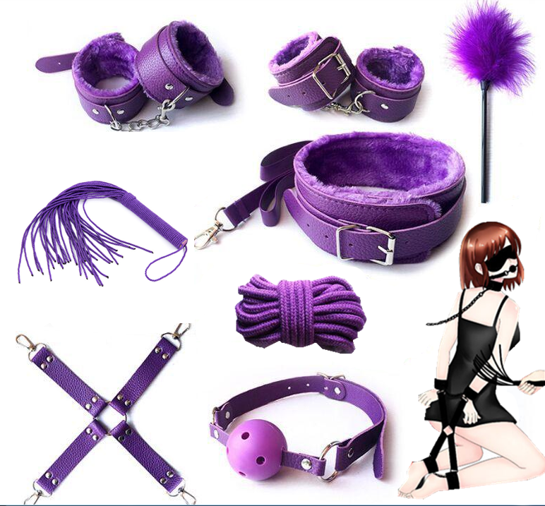 Candiway Fantasy Purple Series Bedroom Bondage Resraint Set Slave Roleplay Game Erotic Accessaries For Couple|Bondage Gear| - AliExpress