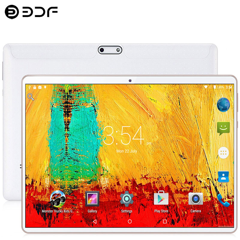 10.1-inch Tablet  Android 7.0 3G/4G Phone Call Dual SIM Card Octa Core 4GB/64GB Wi-Fi Bluetooth GPS Tablets PC (White) 10.9