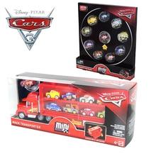 Disney Pixar Cars 3 lightningMcQueen mack truck FLG70 mini aleación coche transporte caja de almacenamiento niño juguete dar Regalo de Cumpleaños chico