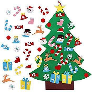 Christmas Decoration Children's Handmade Diy Three-dimensional Felt Cloth Christmas Tree Christmas Tree Hanging christmas tree 1 8 m 180cm white christmas tree decoration tree decoration packages suit tree