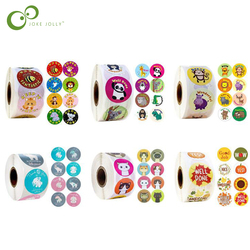 500pcs Reward Stickers Encouragement Sticker Roll for Kids Motivational Stickers with Cute Animals for Students Teachers GYH