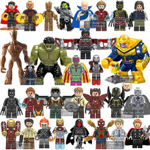 Marvel Compatible legoings Avengers Super héros Infinity War Thanos gantelet Thor fer araignée homme blocs de construction jouets figurines(China)
