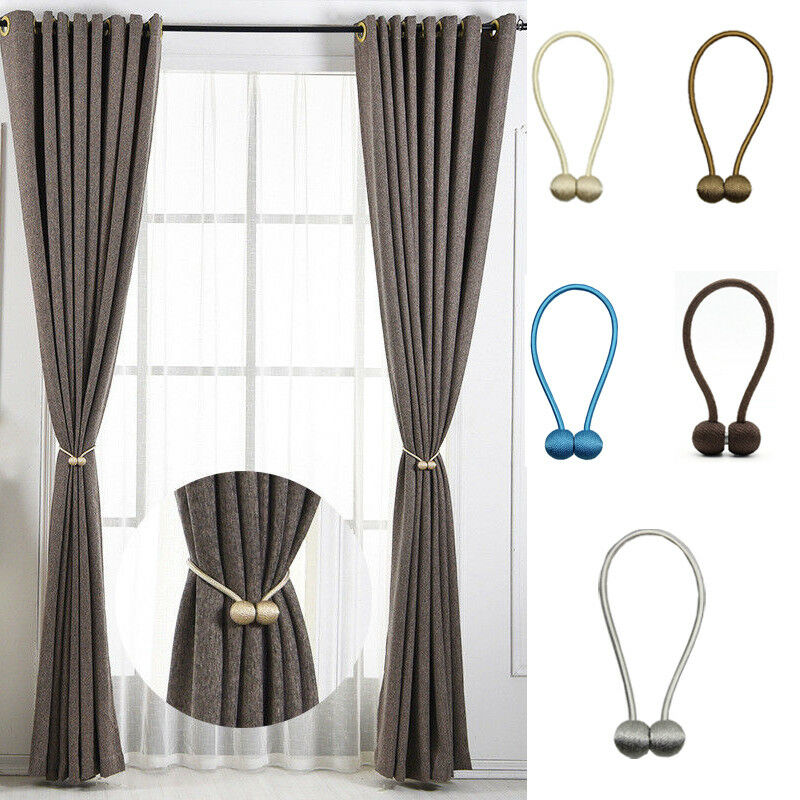 Magnetic Pearl Ball Curtain Tiebacks Tie Backs Holdbacks Buckle Clips Accessory Curtain Rods Accessoires Home Decor