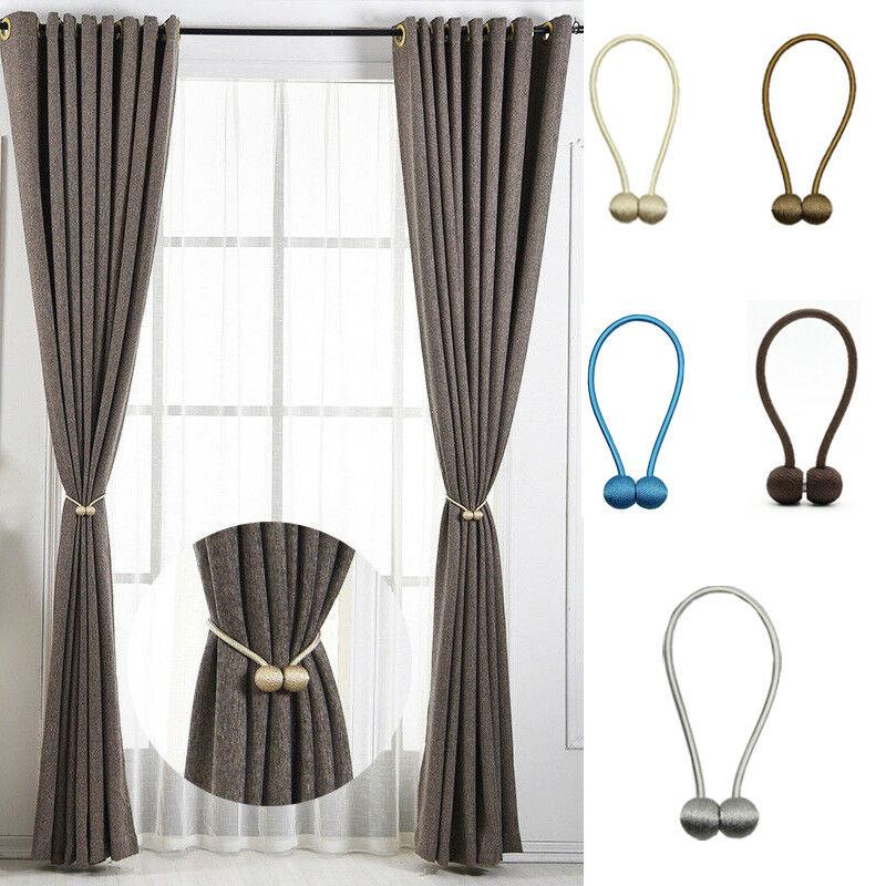 Magnetic Pearl Ball Curtain Tiebacks Tie Backs Holdbacks Buckle Clips Accessory Curtain Rods Accessoires Home Decor