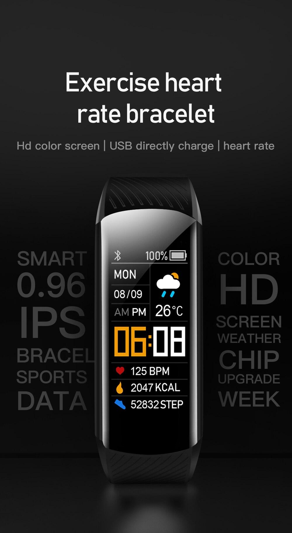 Moda relógio inteligente masculino mulher smartwatch eletrônica