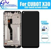 Cubot x30 display lcd + digitador da tela de toque montagem do quadro 100% original novo lcd digitador toque para cubot x30 ferramentas