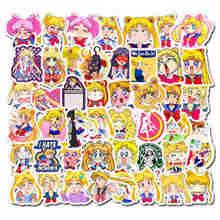 10/50PCS Sailor Moon Sticker Skateboard Guitar Laptop Car Waterproof Cartoon Anime Waterproof Stickers Kids Children Toys Gift