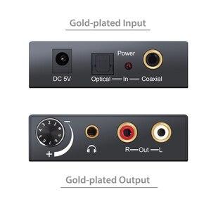 Image 5 - PROZOR DAC Audio Converter RCA 3.5 มม.เอาต์พุตควบคุมระดับเสียงL/RถอดรหัสToslinkไปยังAnalogสำหรับโฮมเธียเตอร์DVD