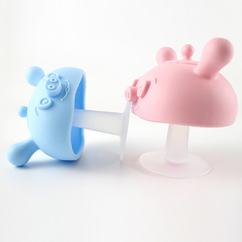 Baby Silicone Teethers Newborn Cartoon Small Mushroom Teething Toy Multifunction Chewable Teethers Infant Nursing Appease Nipple 1