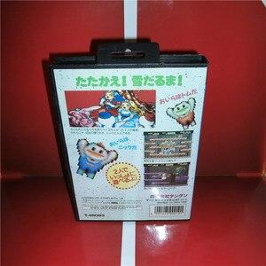 Image 2 - MD ألعاب بطاقة سنو بروس اليابان غطاء مع صندوق ودليل ل MD ميغادريف نشأة لعبة فيديو وحدة التحكم 16 بت MD بطاقة