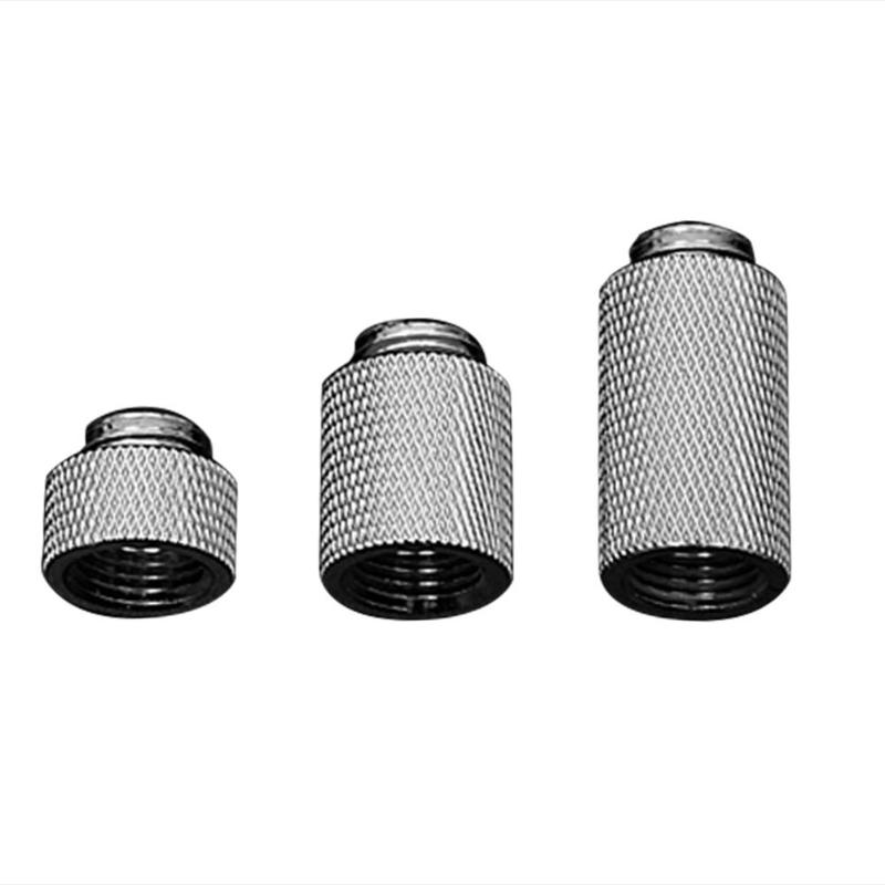 10/20/30mm Diameter Copper Extension Water Cooling Block Joint Fittings Nickel Plating Copper Cooler Tube For Female G1/4 Thread