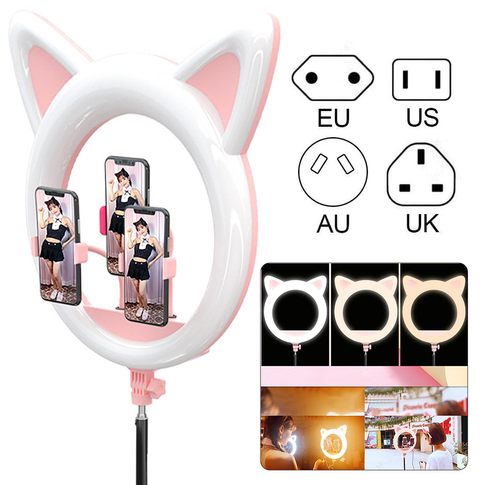 LED Photography Light RK45 Makeup Dimmable Rotatable Three-Colors Compact