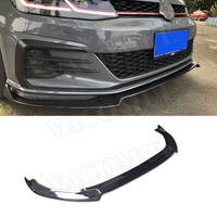Carbon Fiber Front Bumper Lip Spoiler For VW Volkswagen MK7.5 Golf 7.5 GTI 2018 2019 FRP Head Chin Shovel Protector