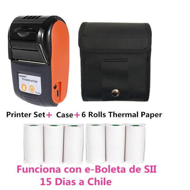 Wireless Mini Bluetooth Thermal Printers Portable Thermal Receipt Printer 58mm Mobile Phone Android POS PC Pocket Bill Impresora 6