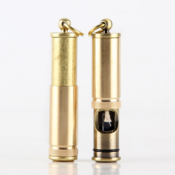 Pull-down Kerosene Oil Lighter Windproof Antique Cylindrical Cigarette Ignition Outdoor Portable Gold Lighters Smoking Accessory