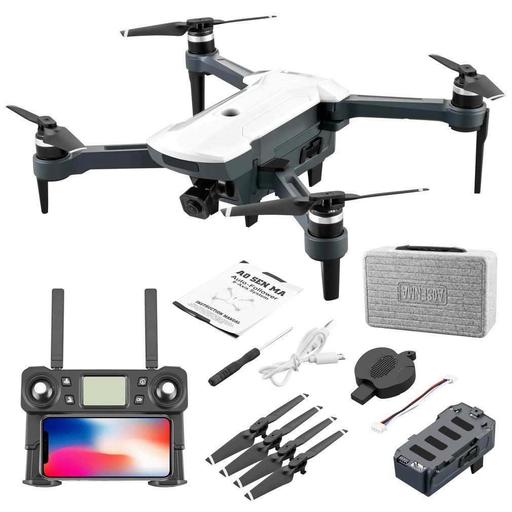 CG028 Aerial Folding Drone Optical Flow/GPS Positioning Drone with 4K HD Camera RC Foldable Drone Headless Mode RC Helicopter