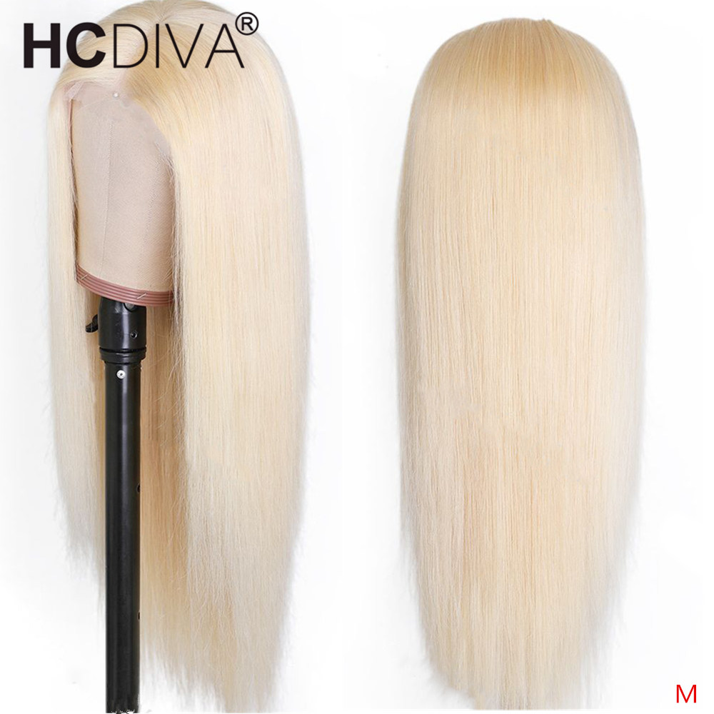 613 Blonde Lace Front Wig Straight Human Hair Wig Pre Plucked With Baby Hair 150% 13*4 Remy Blonde Brazilian Human Hair Lace Wig