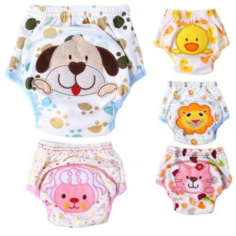 Girls Boys Toddler Potty Training Pants Cloth Diaper Underwear Bodysuit For Baby
