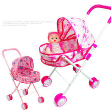 Large Baby Stroller Simulation Play Toy Girl Kids Children Pretend Furniture Toys Dolls Cart Pushchair
