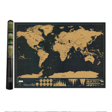 Deluxe Erase World Travel Map Scratch Off Black For 82.5x59.4cm Room Home Office Decoration Wall Stickers